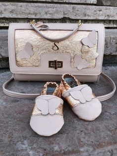 Sophie by chance rose gold bag baby shoe  sophiebychance.com #hungary#handmade