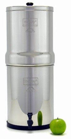 Travel Berkey. Can purchase fluoride filters for $30 more.