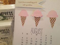 August - time for icecream cones!