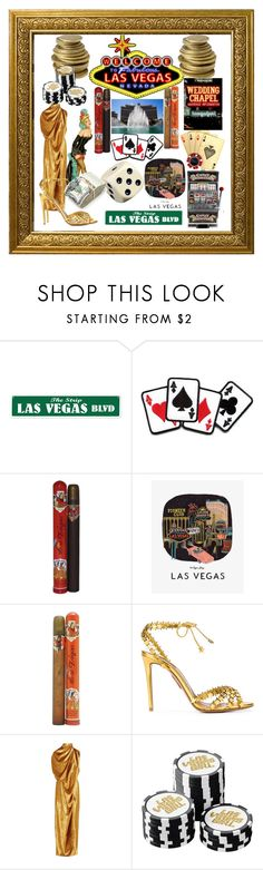 """LAS VEGAS"" by lebanese-qv33nv ❤ liked on Polyvore featuring Retrò, RIFLE, Cuba, Aquazzura, Sid Neigum and 186"