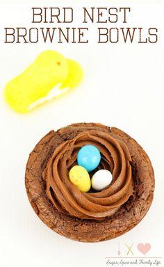 Bird Nest Brownie Bowls Recipe - Sugar, Spice and Family Life