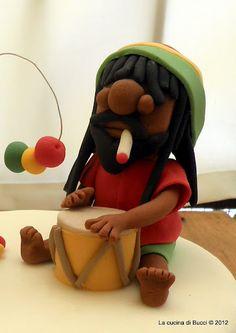 Fondant Bob Marley