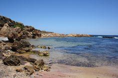 Calita solitaria antes de Cala Pregonda, al norte de Menorca.
