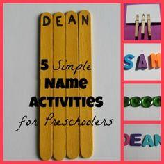 Name Activities for Preschoolers