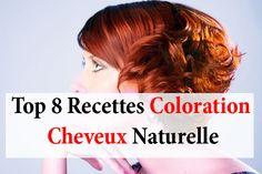 8 recettes coloration cheveux naturelle