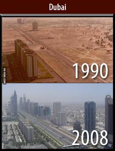 Dubai in 1990 Above. Dubai from the Same Perspective in 2008 - 50 Incredible Photos You May Not Have Seen Before Best of Web Shrine Dubai City, Dubai Uae, Visit Dubai, History Kpop, Dubai 1990, Places To Travel, Places To See, Foto Picture, Dubai Travel