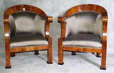 "119: Pair of Period Biedermeier chairs. H:36"" W:27"" D:2 : Lot 119"
