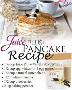 Yum! Order here...krutsch.juiceplus.com #pancakes                                                                                                                                                                                 More