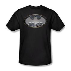 Batman Steel Wall Bat Shield Youth Ladies Jr Women Men V-Neck Tank Top T-shirt