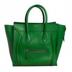Celine2011早春翡翠綠亮面小牛皮小型Luggage購物袋Pictures2191|新潮目錄 ❤ liked on Polyvore featuring bags, celine, borse, purses, сумки, green bags and celine bag