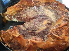 Γαλατόπιτα με κρέμα σοκολάτα βανίλια από την Αργυρώ Μπαρμπαρίγου | Ό,τι ωραιότερο έχετε δοκιμάσει, με κριτσανιστό καραμελωμένο φύλλο και αφράτη κρέμα!