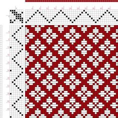 Hand Weaving Draft: Page Figure Donat, Franz Large Book of Textile Patterns, - Inkle Weaving, Tablet Weaving, Paper Weaving, Weaving Textiles, Hand Weaving, Weaving Designs, Weaving Projects, Weaving Patterns, Textile Patterns