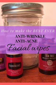 Facial wipes DIY. Anti-Acne, Anti-Wrinkle