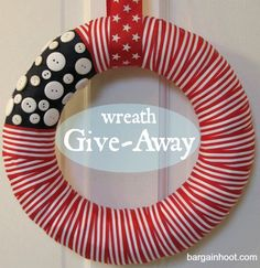 of July/Memorial Day Diy Crafts For Gifts, July Crafts, Holiday Crafts, Holiday Fun, Holiday Ideas, Festive, Holiday Decor, Fourth Of July, 4th Of July Wreath