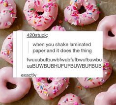 I don't care about the post. I just want the donuts.