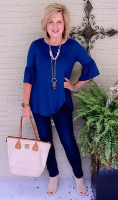 43 Best Casual Work Outfits for Women Over 50 43 Best Casual Work Outfits for Women Over 50 More from my site Fashion Over 40 Womens Fashion Casual Summer, Over 50 Womens Fashion, 50 Fashion, Look Fashion, Trendy Fashion, Fashion Outfits, Fashion Women, Fashion Clothes, Fashion Brands