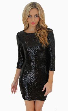 Sexy Sequins Evening Club Slim Bodycon Dress