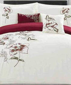 Look at this #zulilyfind! Sinclair Five-Piece Embroidered Comforter Set #zulilyfinds