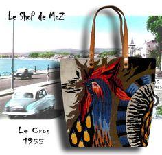 Le Jenny Sac en tapisserie Cabas en Canevas vintage par LeShoPdeMoZ