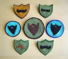 beard and mustache badges