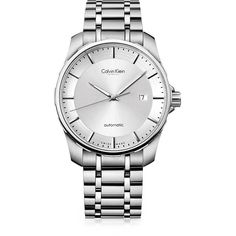 Calvin Klein Women's Stainless Steel Automatic Watch ($1,400) ❤ liked on Polyvore featuring jewelry, watches, accessories, bracelets, silver, calvin klein jewelry, calvin klein jewellery, stainless steel jewelry, calvin klein and stainless steel jewellery
