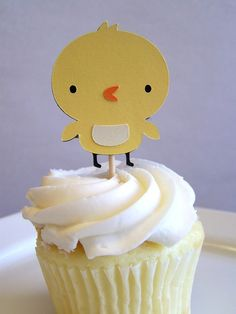 Baby Chick Cupcake Toppers