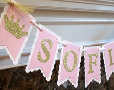 Baby shower ideas princess pink and gold birthday parties 68 Ideas Princess Theme Birthday, Baby Birthday, Princess Party, Birthday Parties, Gold Birthday, Birthday Ideas, Shower Banners, Party Banners, Baby Shower Princess