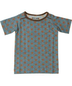 Kik-Kid coole grijs-blauwe T-shirt met sterrenprint. kik-kid.nl.emilea.be