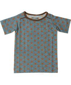 Kik-Kid coole grijs-blauwe T-shirt met sterrenprint. nl.emilea.be