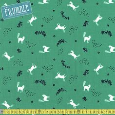 Woodland Forest Cream Fabric Remnant 100/% Cotton 50cm x 40cm