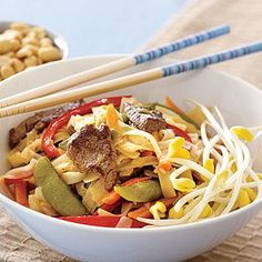 Easy Diner Recipes: Rice Noodles with Beef