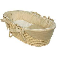Ecru Tailored Baby Moses Basket