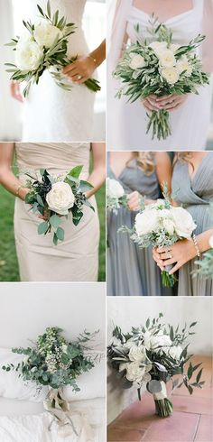 Pretty and Practical Small Wedding Bouquets for .- Pretty and Practical Small Wedding Bouquets for 2019 Brides – Oh Best Day Ever trending white and greenery minimalist wedding bouquets - Small Wedding Bouquets, Small Bouquet, Bride Bouquets, Bridal Flowers, Floral Wedding, Wedding Colors, Greenery Bouquets, Simple Bridesmaid Bouquets, Wedding White