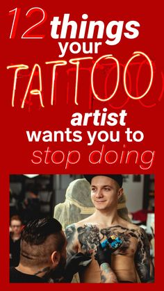 12 things tattoo artists wish you would stop doing Tattoo For Son, First Tattoo, Get A Tattoo, Speakeasy Tattoo, Tattoo Process, Tattoo Ideas, Tattoo Designs, Small Palms, Tattoo Aftercare