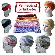 Dette pannebåndet er strikket i dobbel perlestrikk