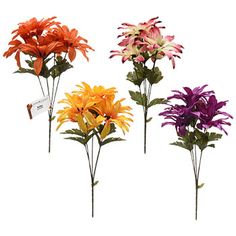 Floral Garden Assorted Aster Bushes, in. Dollar Tree Wedding, Pink White, Orange Pink, Yellow, Purple, Party Supply Store, Boho Wedding, Party Wedding, Party Supplies