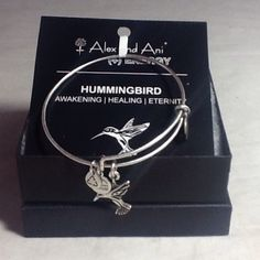 Authentic Alex & Ani Silver Hummingbird Bracelet Authentic Alex & Ani Silver Hummingbird Charm Bracelet new with tag and card. A black box is provided. Alex & Ani Jewelry Bracelets