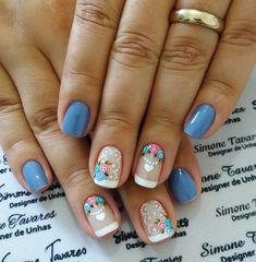 100 Fotos de Unhas decoradas Românticas Beauty Makeup Tips, Beauty Nails, Ongles Forts, Nail Art Designs, Jamberry Nails, Spring Nails, Toe Nails, Pretty Nails, Flower Designs