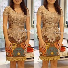 Oowwhh,this is so sooo cool Vera Kebaya, Kebaya Lace, Batik Kebaya, Kebaya Dress, Batik Dress, Dress Brukat, Lace Dress, Party Dress, Blouse Dress