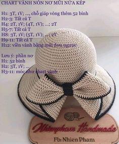 Best 12 Chart nón 2 – Page 416090453071971512 - Her Crochet Crochet Summer Hats, Crochet Beret, Crochet Cap, Diy Crochet, Crochet Stitches, Knitted Hats, Sombrero A Crochet, Knitting Patterns, Crochet Patterns