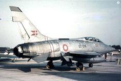 A Danish Air Force North American F-100 Super Saber.