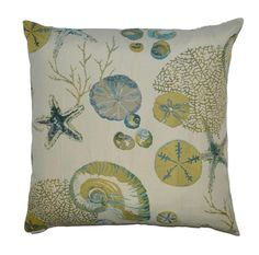 Destin Beach Coastal Pillow