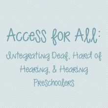 Access for All: Integrating Deaf, Hard of Hearing, and Hearing Preschoolers. Tennesseans can check out for free from the Library Services for the Deaf and Hard of Hearing.