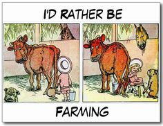 I'd Rather Be Farming Postcard. Change the text using this card template and add your own http://www.zazzle.com/id_rather_be_farming_postcard-239699634191010785 #card #postcard #farming #humor #humour #cardtemplate