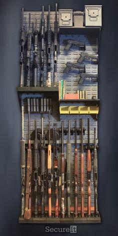 Small armory. Gun wall kit #3