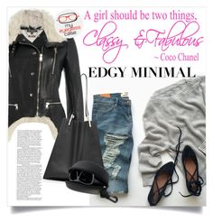 """""""Edgy Minimal"""" by clotheshawg ❤ liked on Polyvore featuring Alexander McQueen, Victoria Beckham, women's clothing, women's fashion, women, female, woman, misses and juniors"""