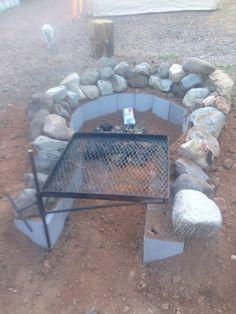 Key hole fire pit