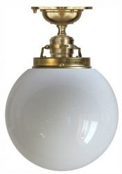 Ceiling lamp Craftmans Pendant in polished brass with globe shade in opal white glass. Welcome to Sekelskifte.se and our product range of classic lamps. Perfume Bottles, Lamp, Light, Types Of Lighting, Ceiling Fan, Light Bulb, Lighting, Lights, Candle Lanterns