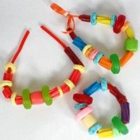 Edible Jewelry Party Craft  Include this fun to make and eat craft at your next party!
