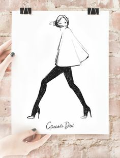 """Love this - """"My Cape"""" poster by fashion photographer, blogger and illustrator Garance Dore."""